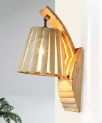 ZGW wall lamp Solid Wood Wall Light Creative Pastoral Aisle Corridor Cafe Bamboo Wall Lamp Wall Mounted ligh