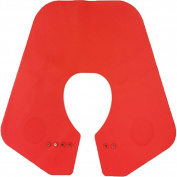 Da Jia Inc Silicone Cutting Collar Neck Shield Magnetic Waterproof Colouring Cape Professional Barber Hair Shawl - Red