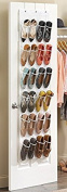 LALILEI 24 Pockets Hanging Over The Door Shoe Storage Bags, Foldable On Wall Shoe Rack Organiser Wardrobe/Toys Storage Bag