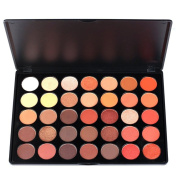 Vodisa Eyeshadow Palette 35 Waterproof Makeup Nature Glow Matte Eye Shadows Kits Pro Make Up Shimmer Eye Shadow Pallets with Eyes Makeup Brushes Set Beauty Cosmetics