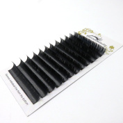 Primer Black Ellipse Flat Eyelash Extension 0.15mm Thickness C Curl 8MM to 14MM Mix Professional Individual Eyelashes