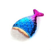 Mermaid Fish Makeup Brush Fishtail Bottom Brush Powder Blush Foundation Cosmetic Brushes Tool 1pcs