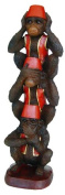Novelty Vintage Style Wise Monkeys Figurine Baroque Antique Effect