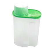 Gemini_mall® 1.9l/2.5L Cereal Container with Lid, Plastic Dry Food Storage Container Dispenser