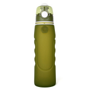 Kuke Foldable Leak Proof Collapsible Silicone Water Bottle for Sports & Outdoors & Daily Use,100% BPA Free & FDA Approved,1 L