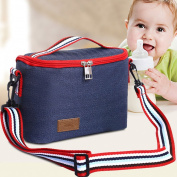 KAMSOL Oxford Baby Milk Bottle Storage Bag Milk Baby Bottle Cooler Bag For Insulated Breastmilk Storage Air Tight Design for Car Travelling Picnic