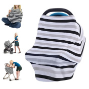 Nursing Cover, Baby Breastfeeding Cover and Hooter Hider Baby Car Seat Cover Canopy