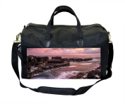 Pink Waves and Rocks Sunset Print Nappy Bag