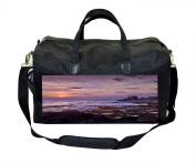 Purple Sunset Print Nappy Bag