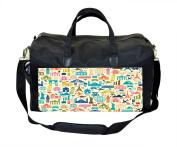 Travel Icons Print Nappy Bag