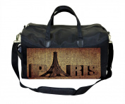 Grunge Paris Print Nappy Bag