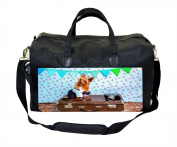 Yorkie on a Suitcase Print Nappy Bag