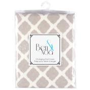 Kushies Fitted Change Pad Sheet Flannel, Grey Lattice