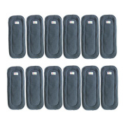 Babyfriend 5-Layers Charcoal Bamboo Nappy Inserts Reusable Liners for Cloth Pocket Nappies 12 pcs