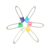 SPHTOEO 50PCS Cloth Nappy Pins Stainless Steel Traditional Safety Pin Assorted Colour