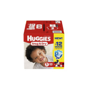 HUGGIES Snug & Dry Nappies, Size 5, 96 Count
