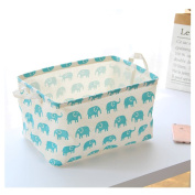 Fieans Foldable Organiser Storage Basket with Handle and Convenient for Nursery and Babies Room-Blue