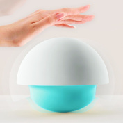 Balla Bébé Mushroom Night light Baby Bedroom Soft Silicone Colour Changing Portable Battery Powerd/USB Charged Lamp Tap Sensor Blue