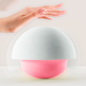 Balla Bébé Mushroom Night light Baby Bedroom Soft Silicone Colour Changing Portable Battery Powerd/USB Charged Lamp Tap Sensor Pink