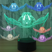Sea Turtle 3D Illusion Lamp Optical Colour Changing Led Desk Night Light Kids Bedroom Nursery Decor