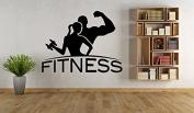 Wall Vinyl Sticker Decals Mural Room Design Pattern Fitness Girl Boy Sport Gym Dumbbell mi457