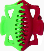 EXTRA LARGE SET OF 2 JAW CLIPS LIME AND FUSCHIA