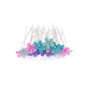 Nymph Code 5 Colours Bridal Flower Clear Crystal Hair Pins Clips for Women Hair Styling