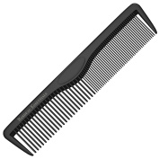 "Styling Comb - Professional 5.35"" Black Carbon Fibre Anti Static Chemical and Heat Resistant Combs For All Hair Types - By Bardeau Essentials"