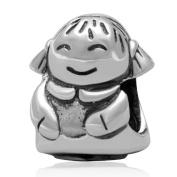 Lucky Boy Charm 925 Sterling Silver Happy Children Charm Birthday Charm for Pandora Bracelet