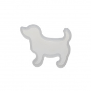 Fyore White Silicone Resin Moulds Dog Shape Casting Mould for Jewellery Making DIY Hand Craft Pack of 5pcs