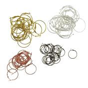 MonkeyJack 80Pieces 30mm Large Round Hoop Loop Leverback Earring Jewellery Making Findings