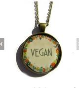 VEGAN necklace - vegan jewellery - Nature I heart - vegan gift - vegetarian, eat clean, healthy eating, handmade jewellery, gift for her