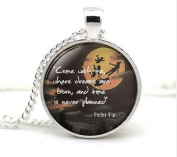 Quote, Neverland necklace Necklace, Come With Me, Jewellery, Where Dreams are Born