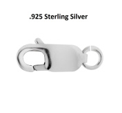 Sterling Silver Lobster Clasp W/Ring 12 x 4