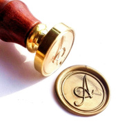 Vooseyhome Initial Letter Alphabet A Wax Seal Stamp with Rosewood Handle