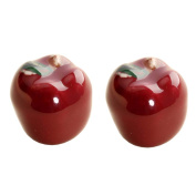 2 Pcs Kitchen Decorative Door Cabinet Drawer Knobs Pull Handles, Apple