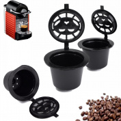 +ing Home Kitchen Refillable Coffee Capsule Cup Reusable Refilling Filter For Nespresso Machine