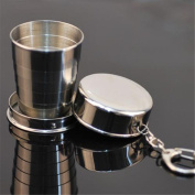 Folding Travel Cups,TianranRT Steel Travel Telescopic Collapsible Shot Glass Emergency Pocket Cup