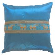 Pillow Cover Case Cushion *** Jade *** Thai Silk THROW 44 cm x 44 cm Elephant elegant nice beautiful