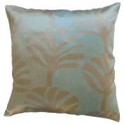 Pillow Cover Case Cushion *** Mint *** Thai Silk THROW 44 cm x 44 cm Leaf elegant nice beautiful