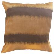 Pillow Cover Case Cushion *** Brown *** Thai Silk THROW 44 cm x 44 cm Wave elegant nice beautiful