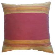 Pillow Cover Case Cushion *** Burgundy *** Thai Silk THROW 44 cm x 44 cm Wave elegant nice beautiful
