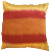 Pillow Cover Case Cushion *** Orange *** Thai Silk THROW 44 cm x 44 cm Wave elegant nice beautiful