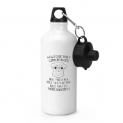 How To Be Truly Content In Life Pug Sports Bottle