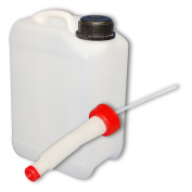 Can - plastic jerrican 3 L, water container, natural, DIN 45 + 1 flexible spout
