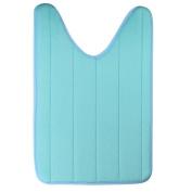 Shineweb 40x60cm U Shaped Ctton Bath Mat Anti Slip for Home Bathroom Living Room Kitchen