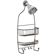 New Steel Shower Caddy Bathroom Shelf Showerhead Soap Shampoo Storage Bath Holder Organiser Wall Rack Basket Shelves