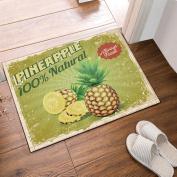 Poster Style Fresh Pineapple Bath Rugs Bathroom Entryways Outdoor Indoor Front Door Mat 60x40cm