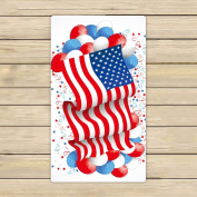 Custom Independence Day 4th of July,American Flag US Flag Hand Towel,Spa Towel,Beach Bath Towels,Bathroom Body Shower Towel Bath Wrap Size 41cm x 70cm