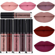 SHERUI Waterproof Matte Liquid Lipstick Long Lasting Lip Gloss Lipstick Set of 6